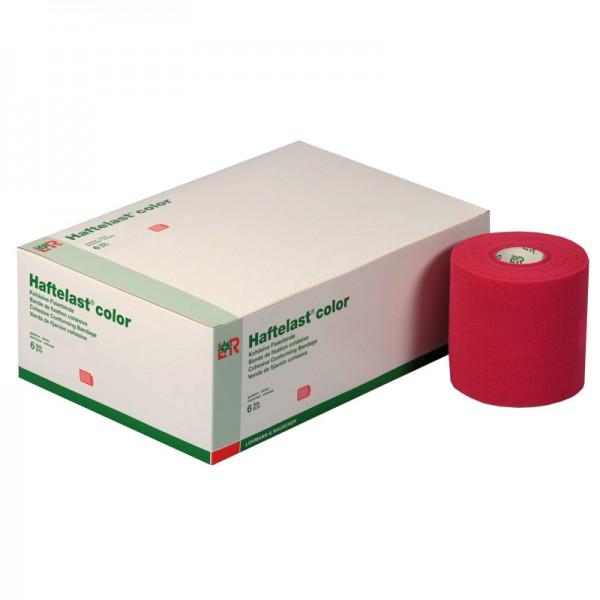 Kohäsive Fixierbinde L&R Haftelast color Rot