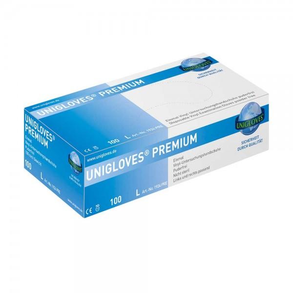 Handschuhe Vinyl Unigloves Premium puderfrei