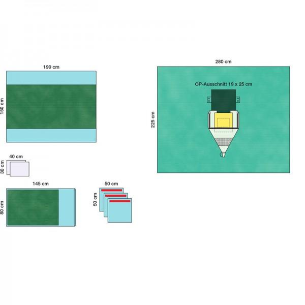 OP-Abdecksystem L&R Raucodrape PRO Kranio-Set steril
