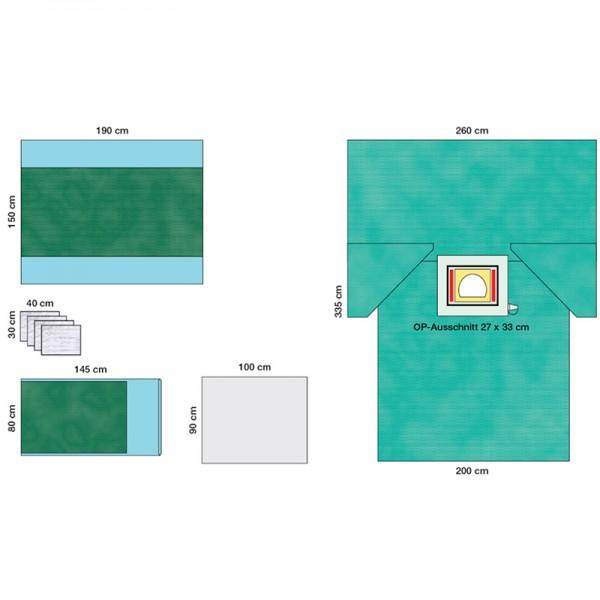 OP-Abdecksystem L&R Raucodrape Sectio-Set I steril