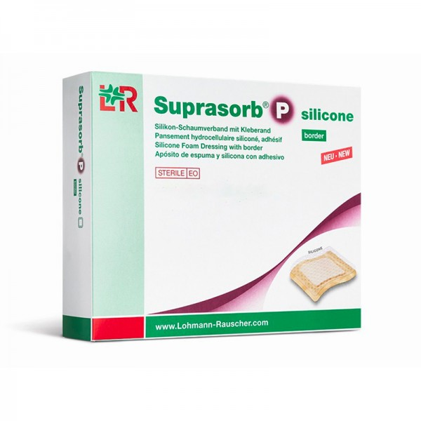 Suprasorb P silicone - PU-Schaumverband - border (mit Kleberand)