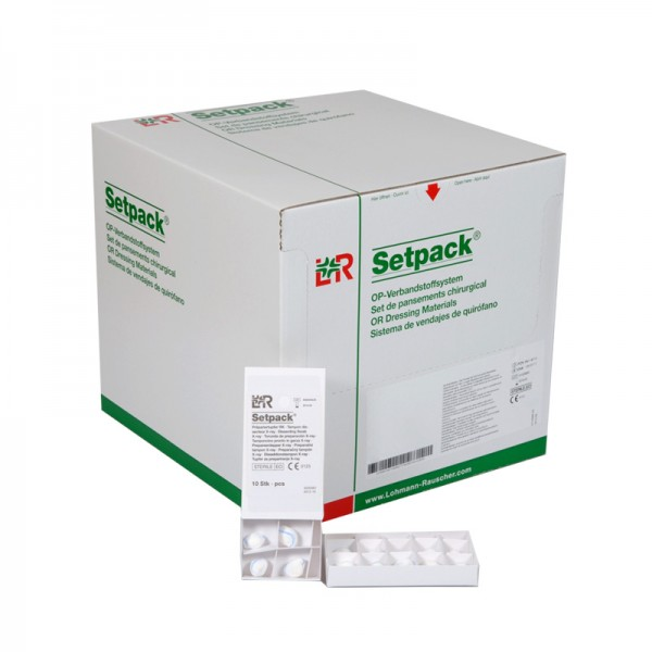 OP Präpariertupfer L&R Setpack mit Röntgenkontrastfaden steril