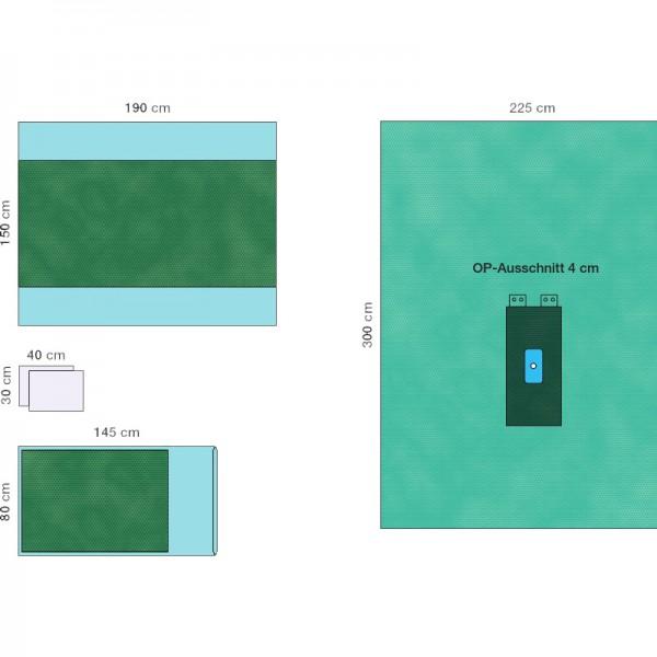 OP-Abdecksystem L&R Raucodrape PRO Extremitäten-Set Hand/Fuß steril