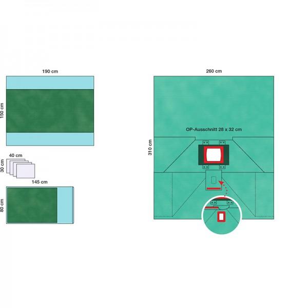 Raucodrape PRO - Rektum-Set I - steril