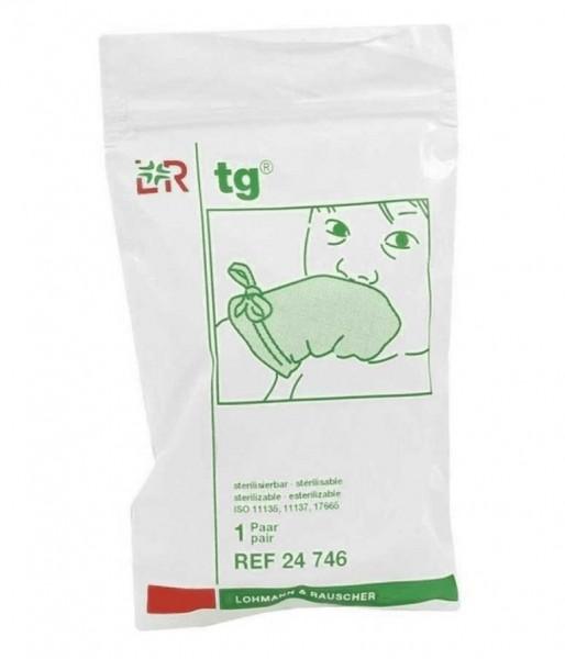 Baumwollhandschuhe L&R tg-Fäustling für Säuglinge unsteril