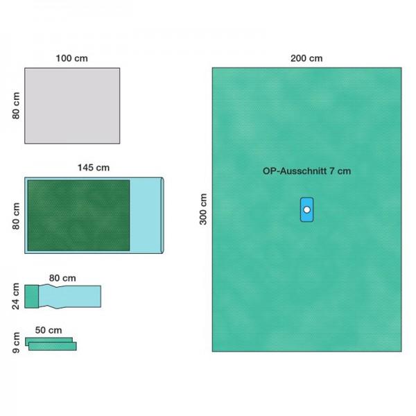 OP-Abdecksystem L&R Raucodrape PRO Arthroskopie-Set I steril