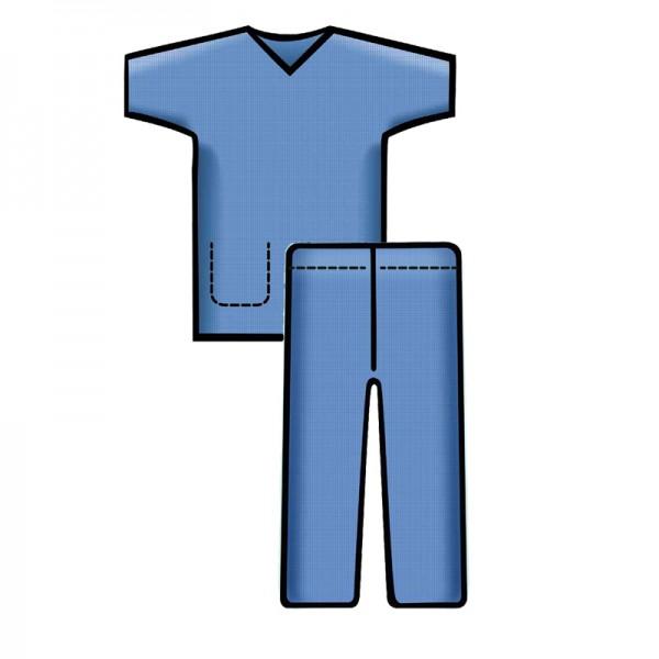 Bereichskleidung L&R Sentinex Set Hose und Kasack Blau