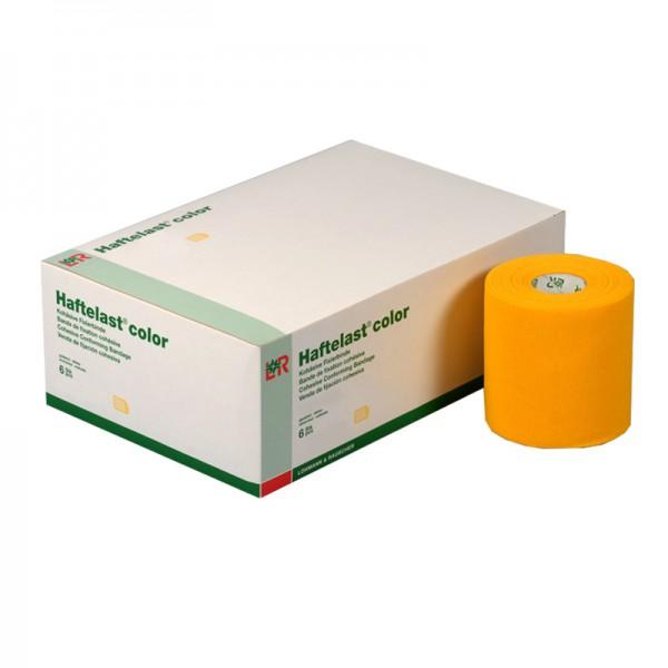 Kohäsive Fixierbinde L&R Haftelast color Gelb