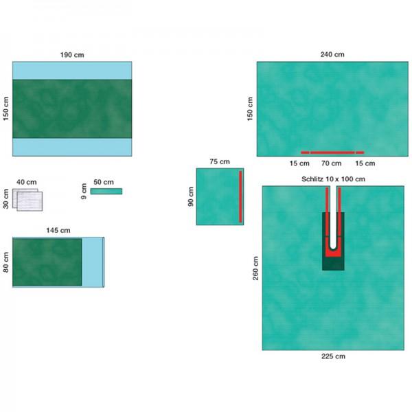OP-Abdecksystem L&R Raucodrape PRO Universal-Schlitztuch-Set I steril