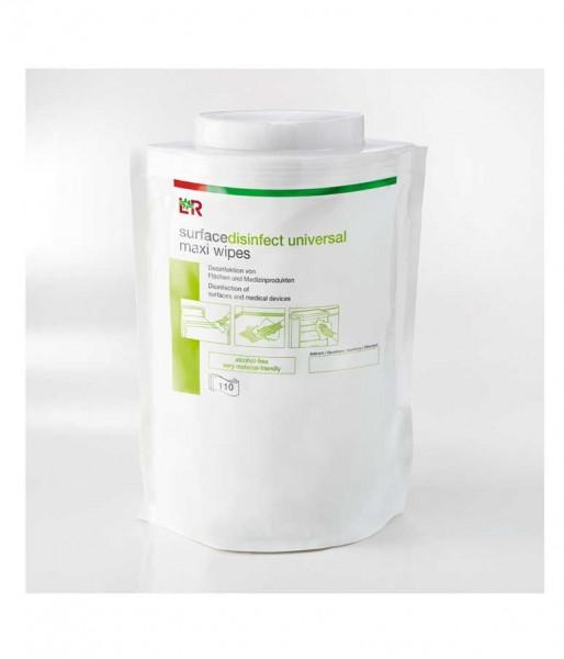 Desinfektionstücher L&R surfacedisinfect universal maxi wipes alkoholfrei