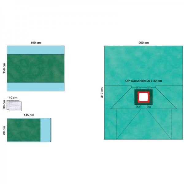 OP-Abdecksystem L&R Raucodrape PRO LAP-Set II steril