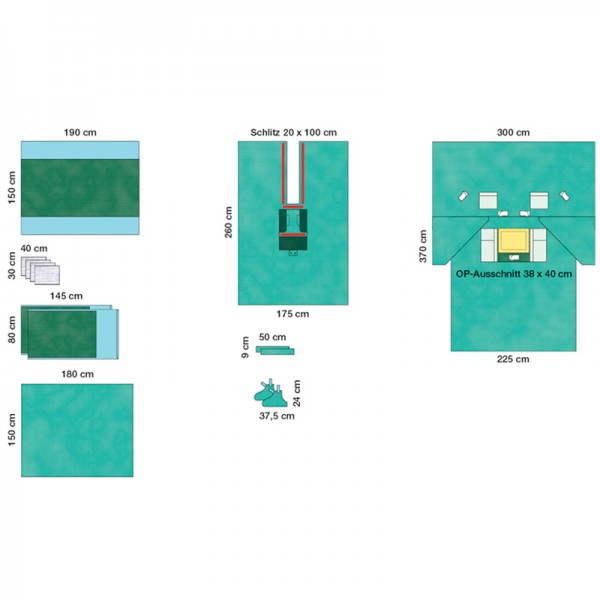 OP-Abdecksystem L&R Raucodrape PRO Kardiovaskular-Set steril