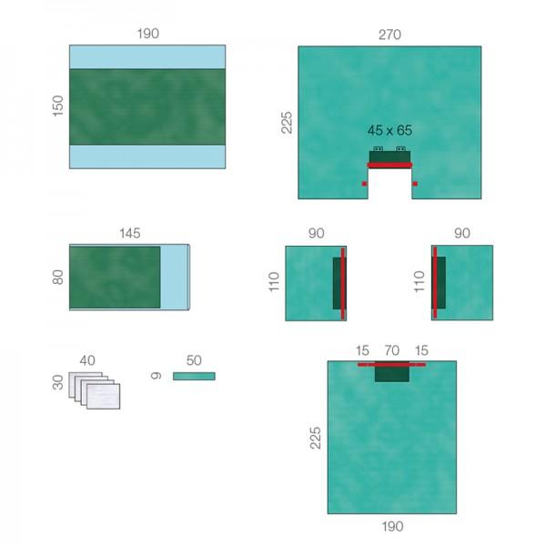 OP-Abdecksystem L&R Raucodrape PRO Universal-Set I Super steril