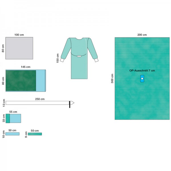 OP-Abdecksystem L&R Raucodrape PRO Arthroskopie-Set IV steril