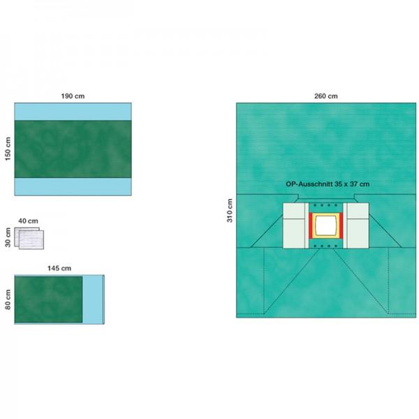 OP-Abdecksystem L&R Raucodrape PRO LAP-Set III steril