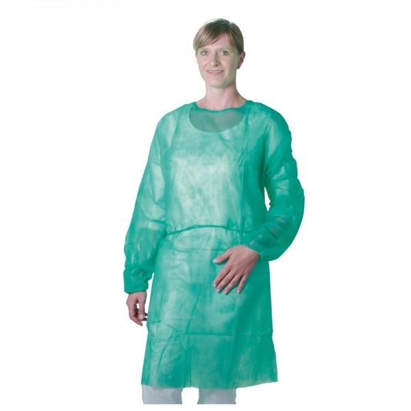 Besuchermantel Unigloves PP-Vlies Kittel grün