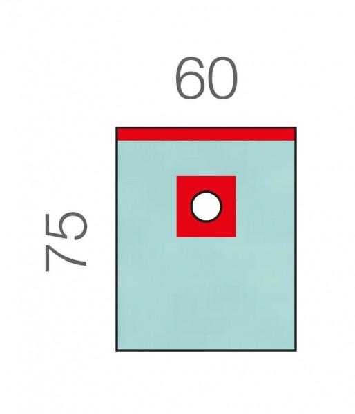 OP-Lochtücher L&R Raucodrape Epidural-Abdecktuch 60x75cm 2-lagig selbstklebend steril