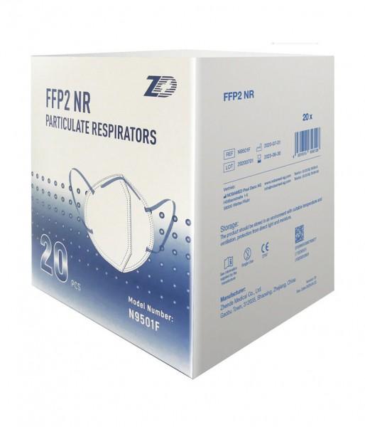 Mundschutz FFP2 4-lagig weiß mit Ohrschlaufen 20 Stück