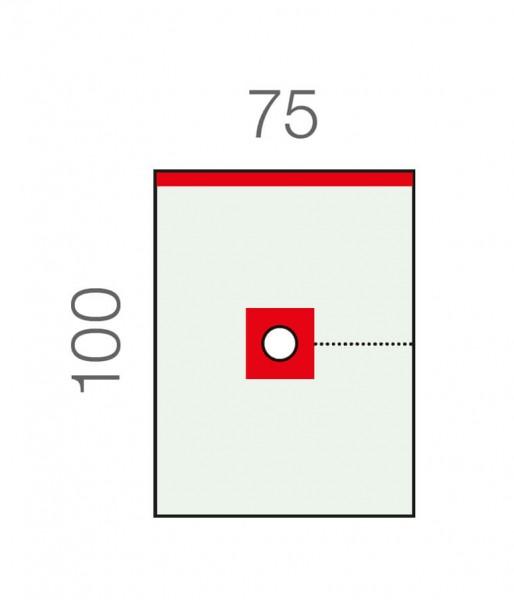 OP-Lochtücher L&R Raucodrape Epidural-Abdecktuch transparent 1-lagig selbstklebend steril