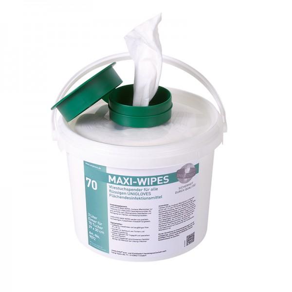 Spendereimer Unigloves Quick & Clean Maxi Wipes 3 Liter Grün