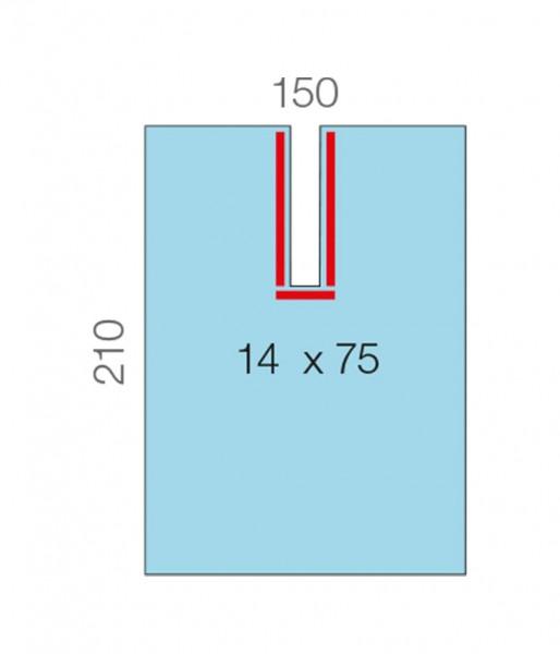 OP-Abdecktücher L&R Raucodrape Schlitztücher PE-Folie steril
