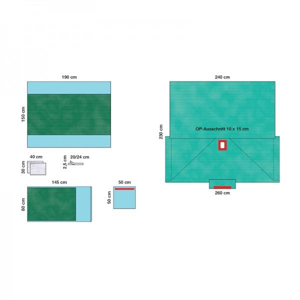 OP-Abdecksystem Raucodrape PRO Gynäkologie-Set I steril