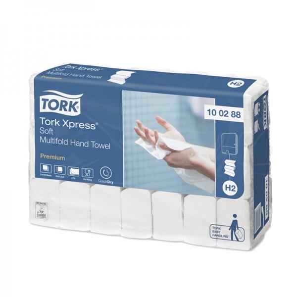 Handtuchpapier - Tork Xpress - 2-lagig - 34 x 21 cm - Hochweiß - H2 - Multifold-Handtuchsystem