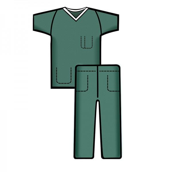 Bereichskleidung L&R Sentinex Set Soft Hose und Kasack Grün