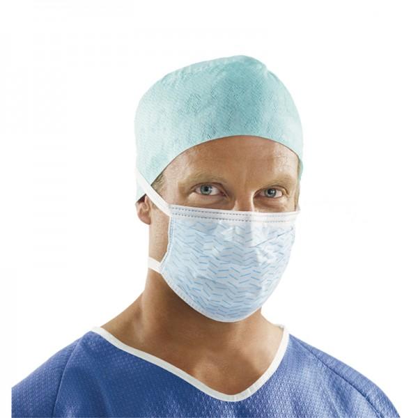Mundschutz L&R Sentinex blau Maske zum Binden