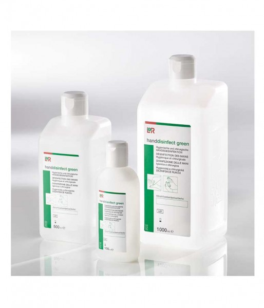 Händedesinfektion L&R handdisinfect green viruzid