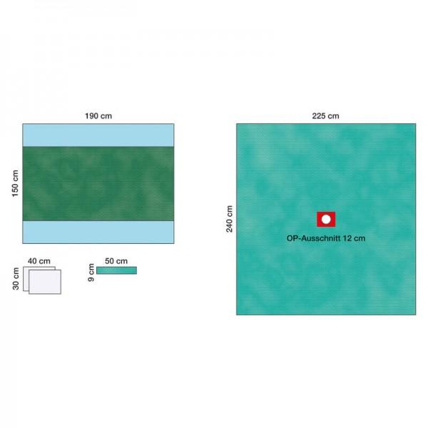 OP-Abdecksystem L&R Raucodrape PRO Set für Kleineingriffe steril