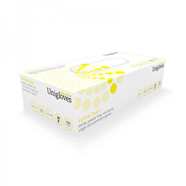 Handschuhe Nitril Unigloves Yellow Pearl Gelb