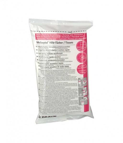 Desinfektionstücher B. Braun Meliseptol HBV Nachfüllpackung