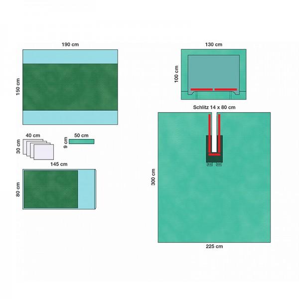 OP-Abdecksystem L&R Raucodrape PRO Kopf-Set II steril