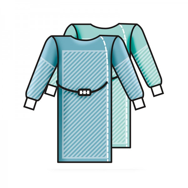 OP-Mäntel Premium L&R Sentinex PRO Spunlace Special steril mit Einschlag