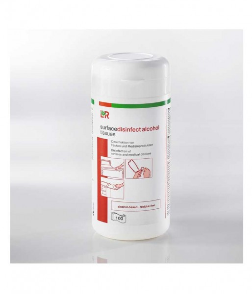 Desinfektionstücher L&R surfacedisinfect alcohol tissues