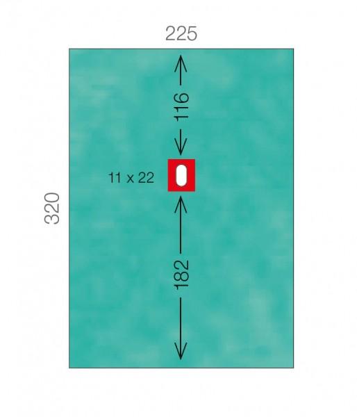 OP-Lochtücher L&R Raucodrape PRO LAP-/Wirbelsäulentuch 3-lagig selbstklebend steril