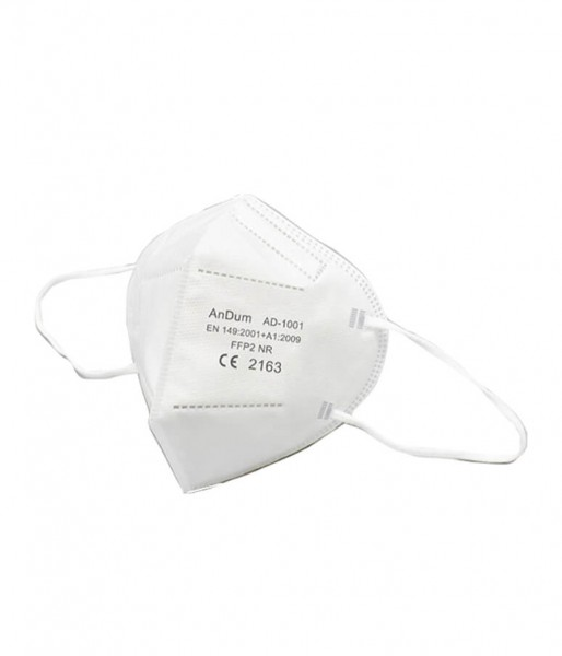 Gesichtsmaske FFP2 5-lagig weiß mit Gummizug
