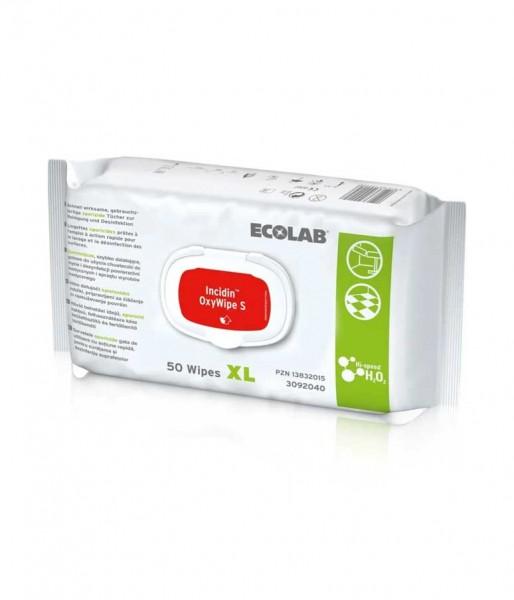 Desinfektionstücher Ecolab Incidin OxyWipe S XL alkoholfrei