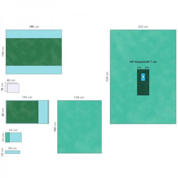 OP-Abdecksystem L&R Raucodrape PRO Extremitäten-Set II steril