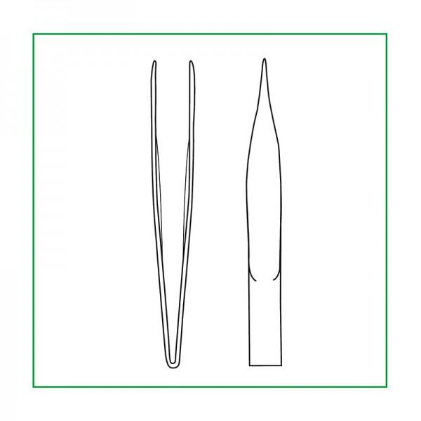 Sentina Pinzetten - Splitterpinzette, gerade - 9 cm -