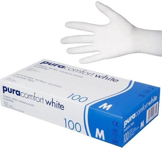 Handschuhe Nitril AMPri puracomfort white